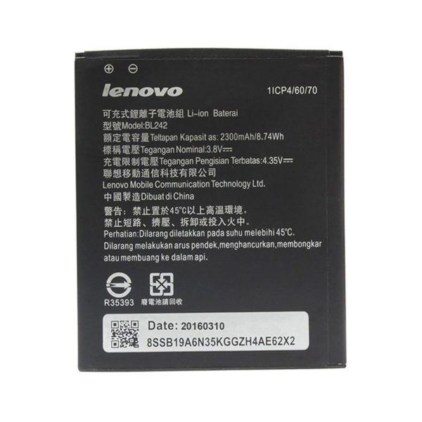 باتری موبایل لنوو مدل BL242 با ظرفیت 2300mAh مناسب برای گوشی های موبایل لنوو A6000 -