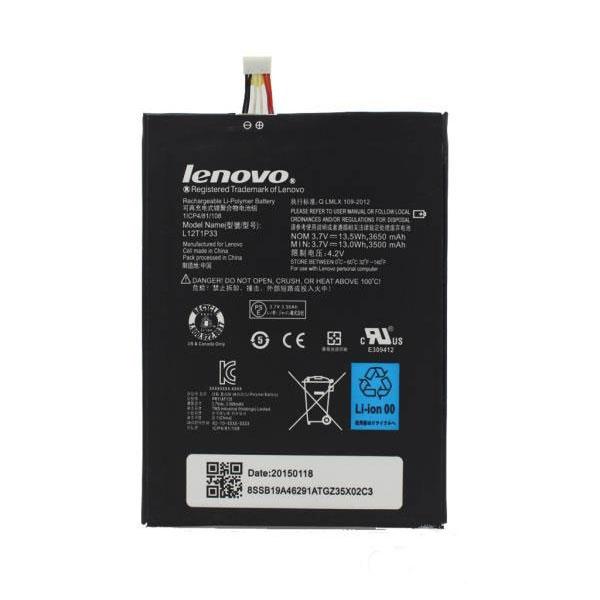باتری موبایل لنوو Lenovo A3300 مدل L12t1p33با ظرفیت 3500mAh