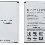 باتری موبایل مدل BL-53YH ظرفیت 3000 میلی آمپر ساعت مناسب برای گوشی موبایل ال جی G3 میباشد برای سفارش با شماره 09126439322 تماس بگیرید