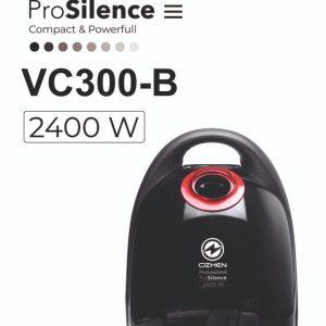 جاروبرقی ozhen ergomax مدل vc300-b با قدرت 2400 وات -