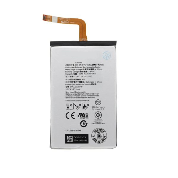 باتری موبایل مدل BPCLS00001B ظرفیت 2515 مناسب موبایل بلک بری classic / Q20 میباشد برای سفارش با شماره 09126439322 تماس بگیرید