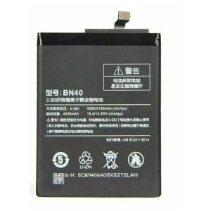 باتری موبایل مدل BN40 ظرفیت 4000 میلی آمپر ساعت مناسب برای گوشی موبایل شیائومی REDMI 4 PRO -