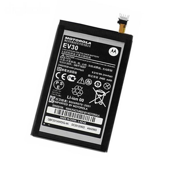 باتری موبایل مدل Ev30 ظرفیت 2460 مناسب برای گوشی موبایل موتورولا razr hd / XT926 میباشد برای سفارش با شماره 09126439322 تماس بگیرید