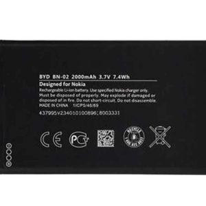 باتری گوشی مدل BYD BN-02 ظرفیت 2000 میلی آمپرساعت مناسب برای گوشی NOKIA X L - سازگار