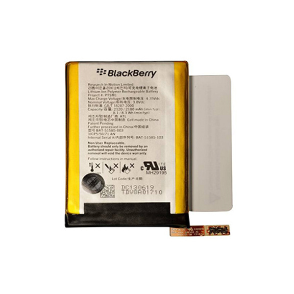 باتری موبایل بلک بری Q5 مدل PTSM1 با ظرفیت 2120 میلی آمپر ساعت میباشد برای سفارش با شماره 09126439322 تماس بگیرید